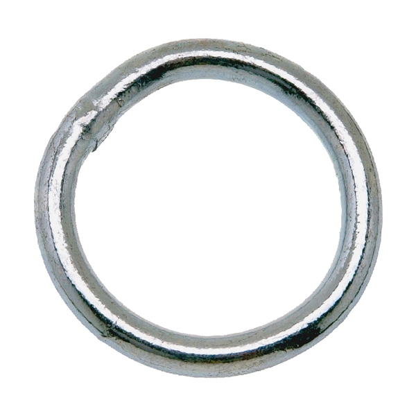 Picture of Campbell T7660841 Welded Ring, 200 lb Working Load, 1-1/4 in ID Dia Ring, #4 Chain, Steel, Zinc