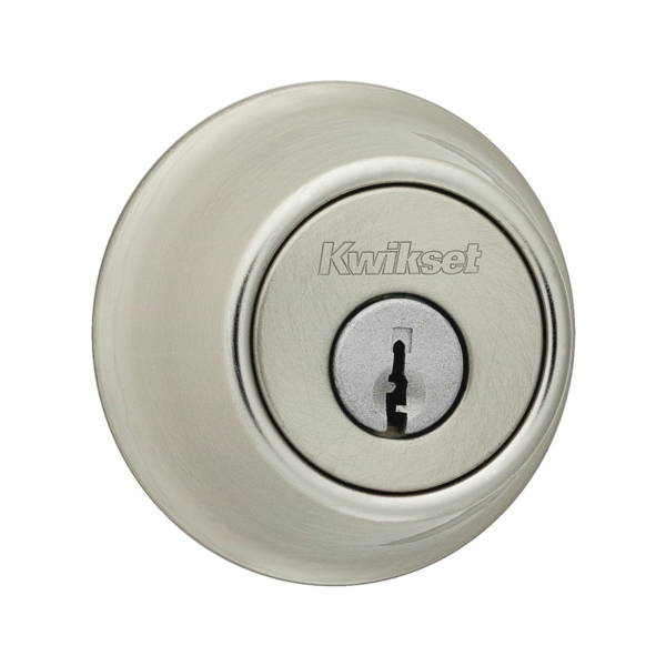 Picture of Kwikset 66015RCLRCSK3BX Deadbolt, Metal, Satin Nickel, 2-3/8 to 2-3/4 in Backset