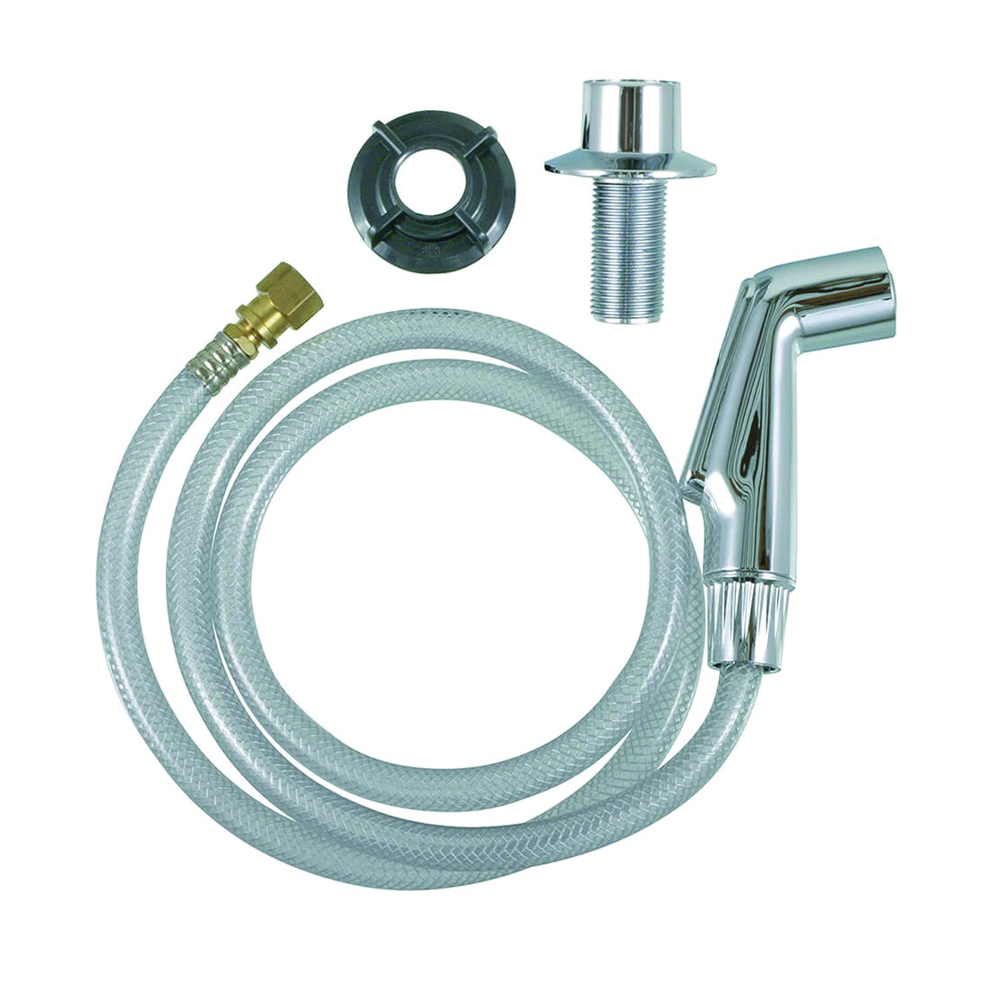 Picture of Danco 88814 Spray Hose and Head Assembly, 1/4 in Connection, FIP, Plastic
