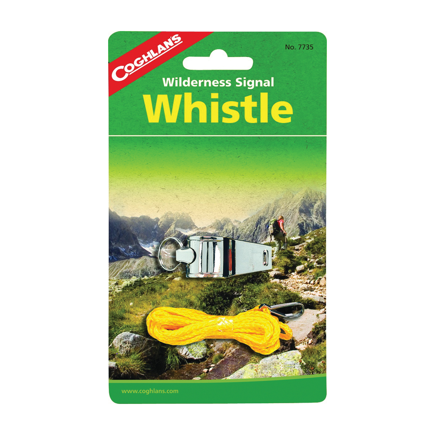 Picture of COGHLAN'S 7735 Camp Whistle With Lanyard, Nickel