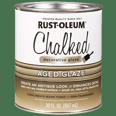 Picture of RUST-OLEUM CHALKY 315881 Decorative Glaze, Satin, Brown, 30 oz
