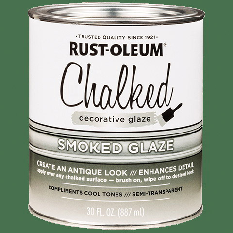 Picture of RUST-OLEUM CHALKY 315883 Decorative Glaze, Satin, Smoked, 30 oz