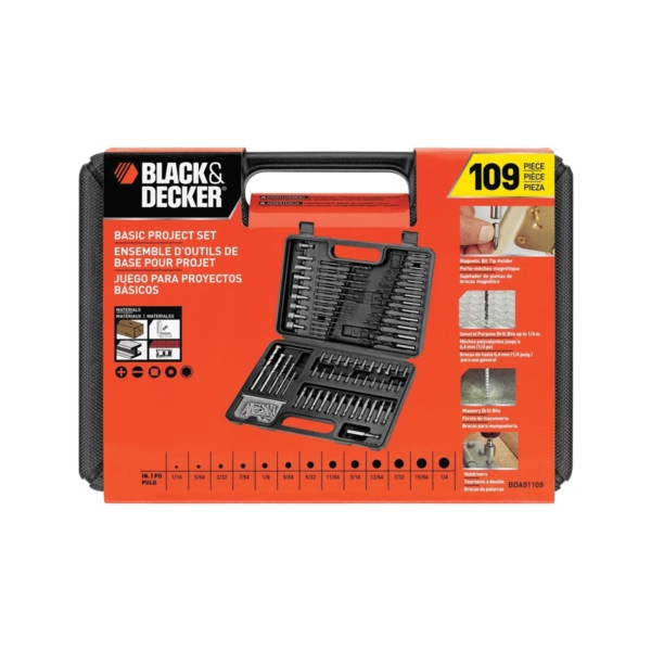 Picture of Black+Decker BDA91109 Drill Bit Set, Combination, 109 -Piece