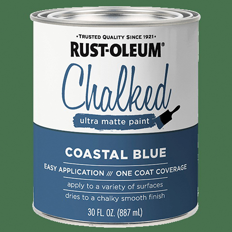 Picture of RUST-OLEUM CHALKY 329207 Paint, Ultra Matte, Coastal Blue, 30 oz, Can