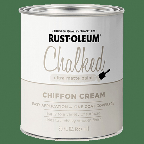 Picture of RUST-OLEUM CHALKY 329598 Paint, Ultra Matte, Chiffon Cream, 30 oz, Can