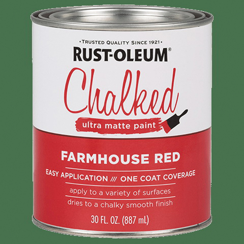 Picture of RUST-OLEUM CHALKY 329211 Paint, Ultra Matte, Farmhouse Red, 30 oz, Can