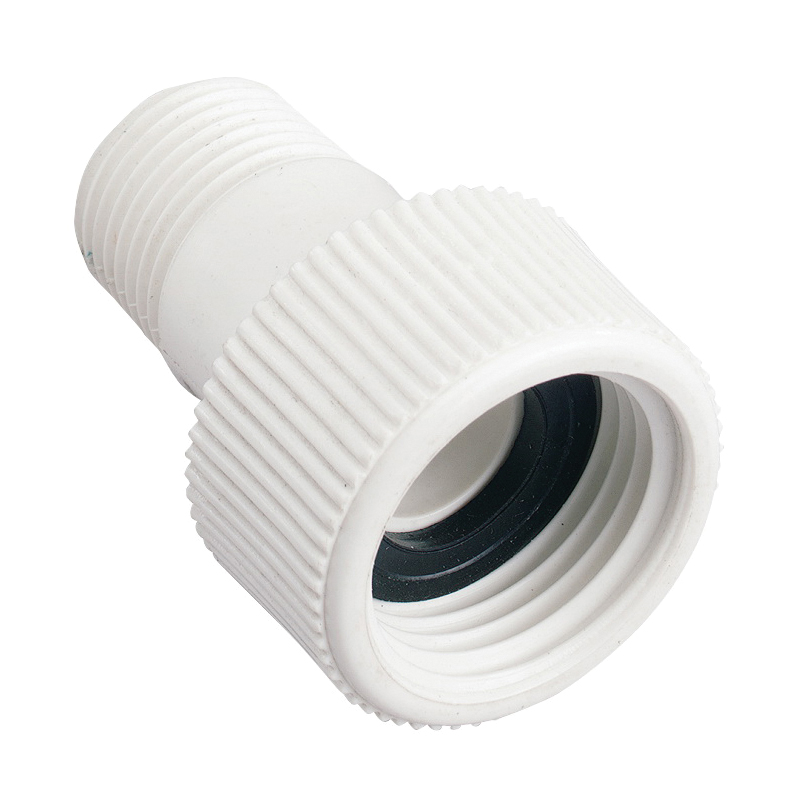 Picture of Orbit 53365 Hose to Pipe Adapter, 1/2 x 3/4 in, MNPT x FHT, Polyvinyl Chloride, White