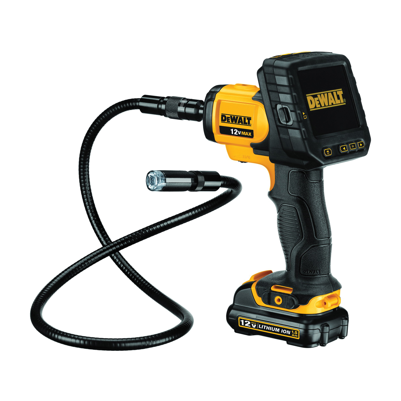 Picture of DeWALT DCT410S1 Cordless Inspection Camera with Wireless Screen Kit, Kit, 12 V Battery, 3-1/2 in Display