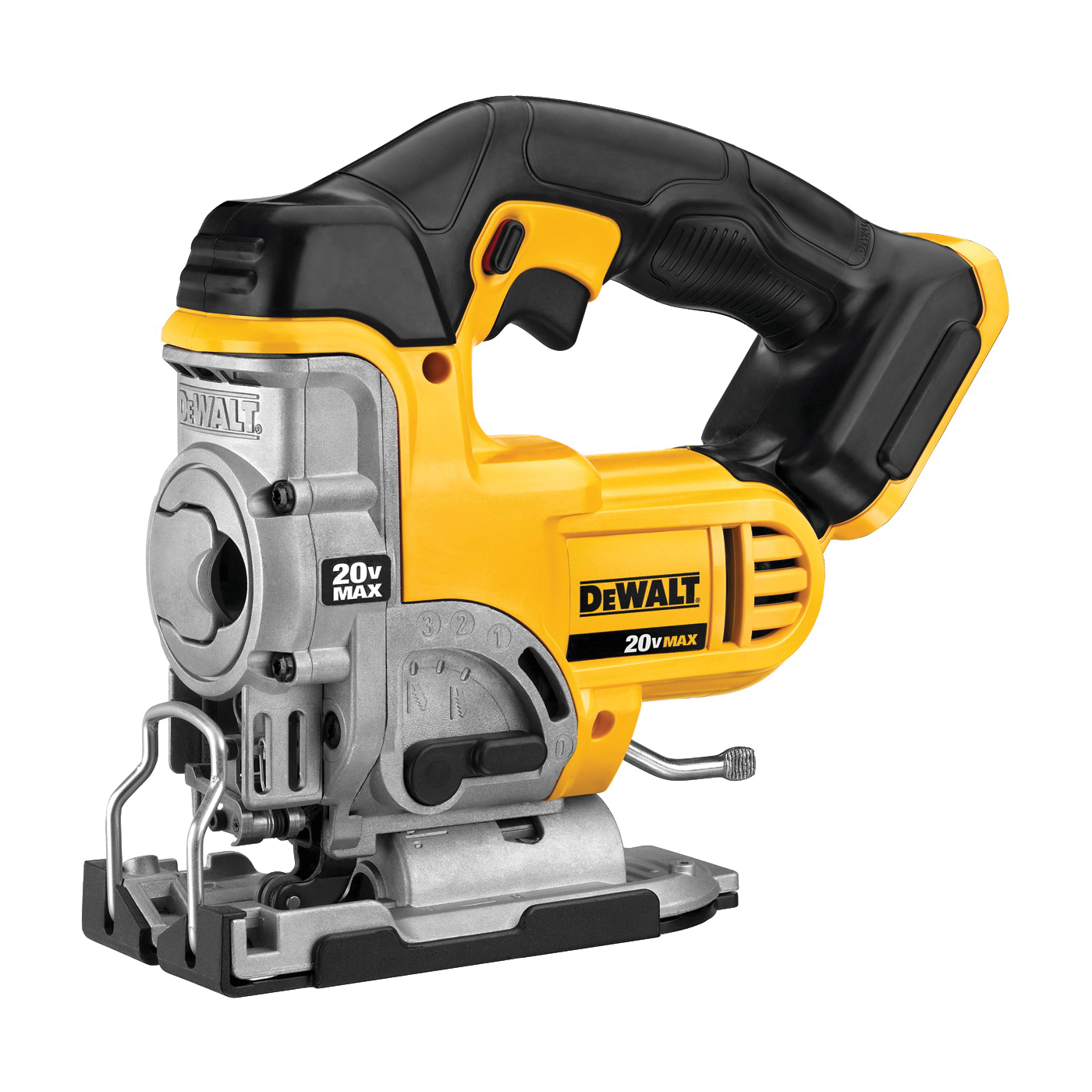 Picture of DeWALT DCS331B Jig Saw, Bare Tool, 20 V Battery, 3 Ah, 1 in L Stroke, 0 to 3000 spm SPM, Battery Included: No