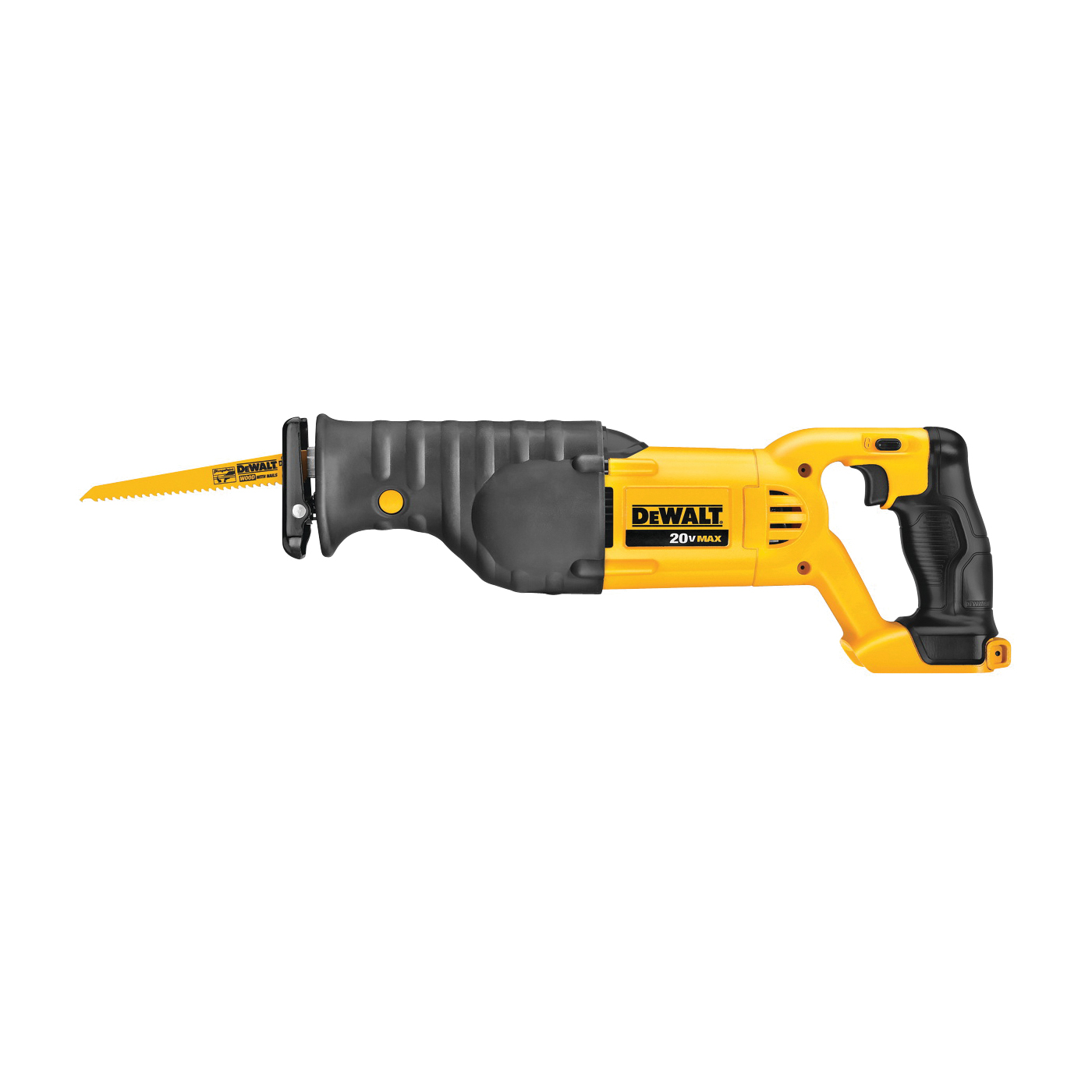 Picture of DeWALT DCS380B Reciprocating Saw, Bare Tool, 20 V Battery, 4 Ah, 1-1/8 in L Stroke, 0 to 3000 SPM