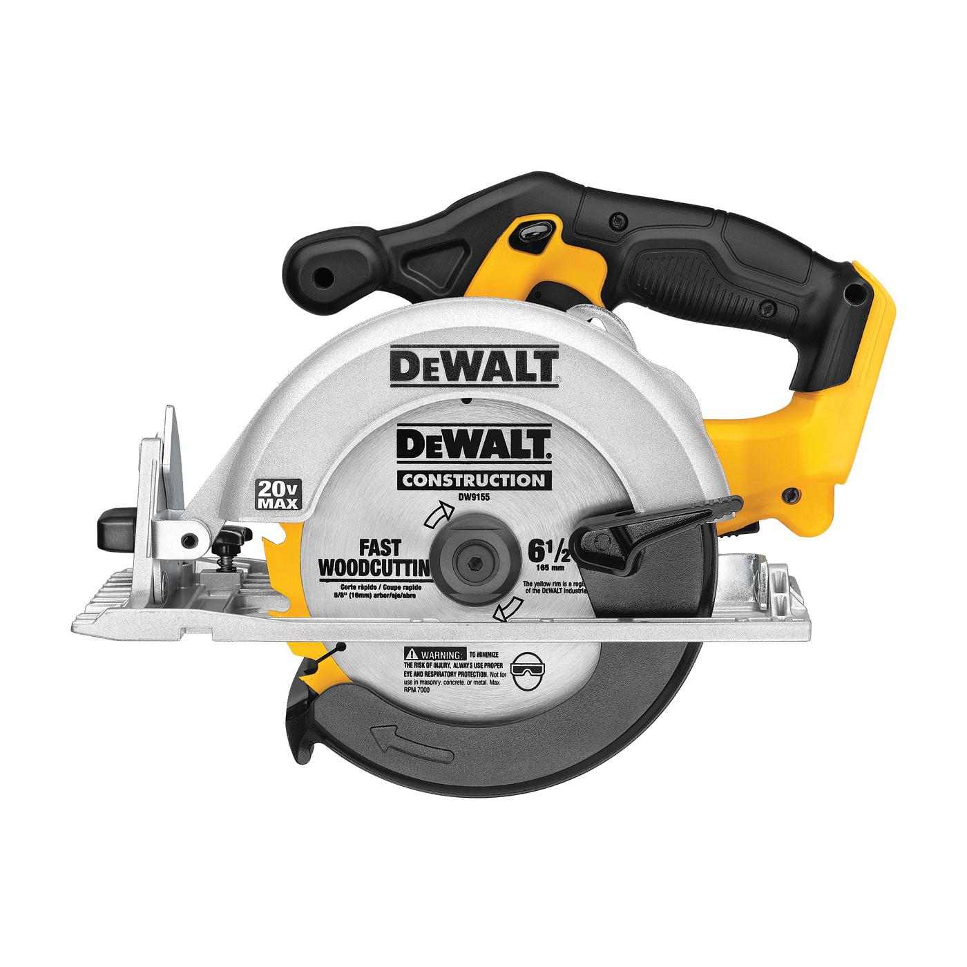 Picture of DeWALT DCS391B Circular Saw, Bare Tool, 20 V Battery, 6-1/2 in Dia Blade, 50 deg Bevel, 5150 rpm Speed
