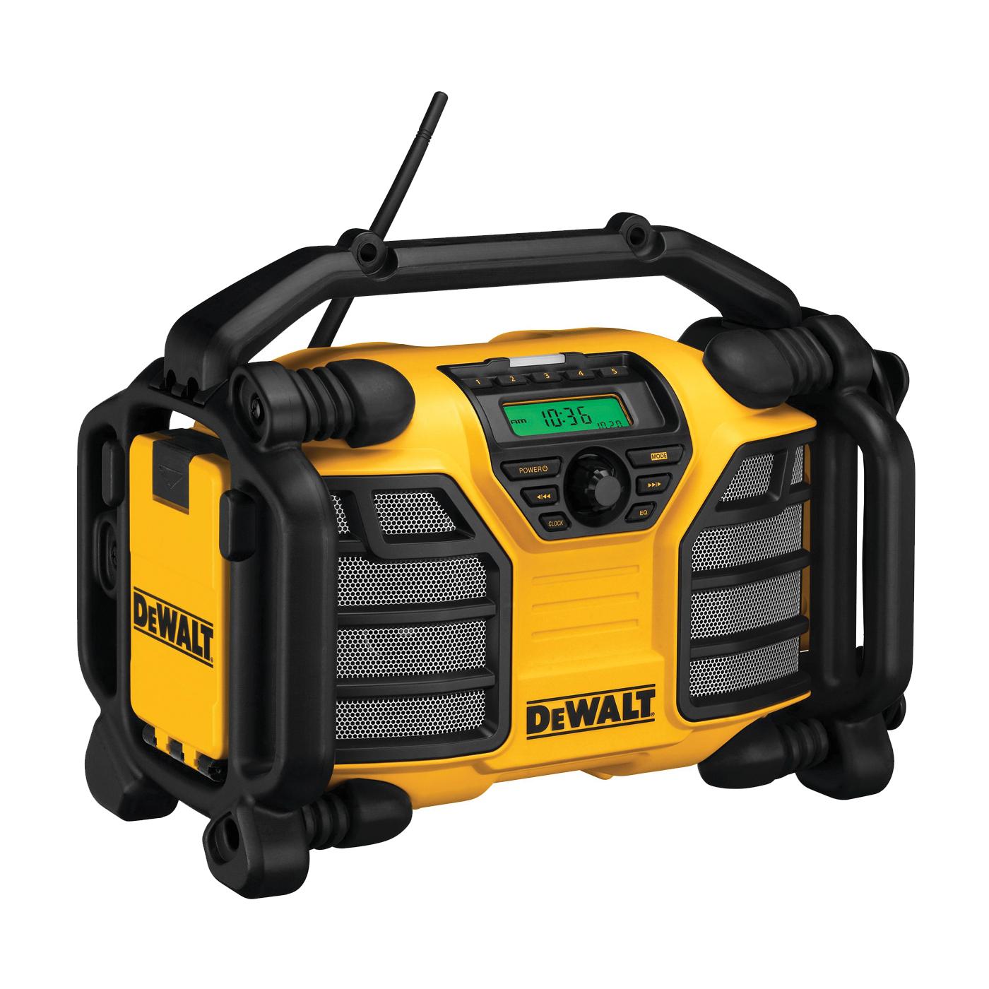 Picture of DeWALT DCR015 Worksite Charger/Radio, 12, 20 V Battery, 3 Ah