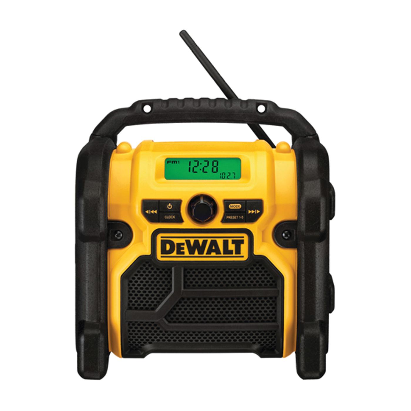 Picture of DeWALT DCR018 Worksite Radio, Bare Tool, 12, 18, 20 V Battery, 3, 1.5 Ah, Battery Included: No