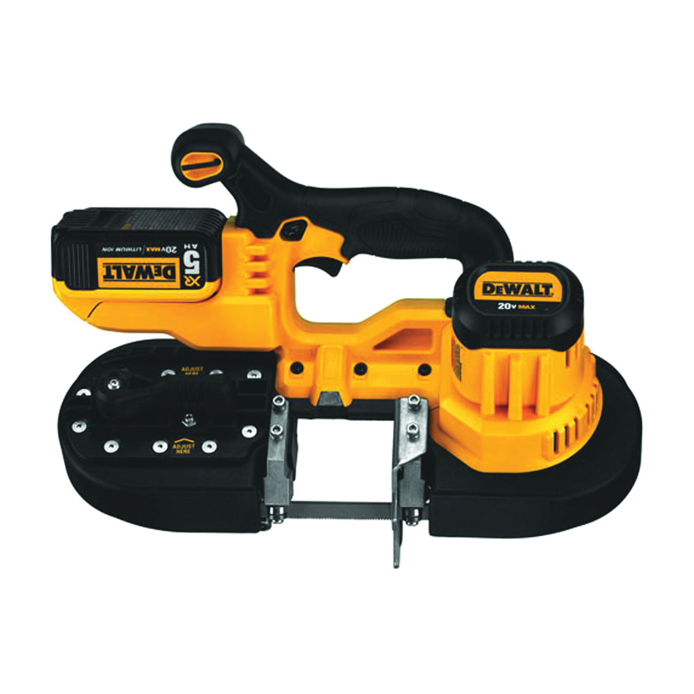 Picture of DeWALT DCS371P1 Band Saw Kit, 20 V, 32-7/8 in L Blade, 2-1/2 in Cutting Capacity, 570 fpm Speed