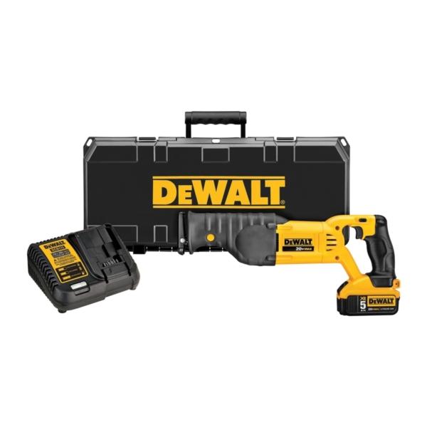 Picture of DeWALT DCS380P1 Cordless Reciprocating Saw Kit, Kit, 20 V Battery, 5 Ah, 1-1/8 in L Stroke, 0 to 3000 spm SPM