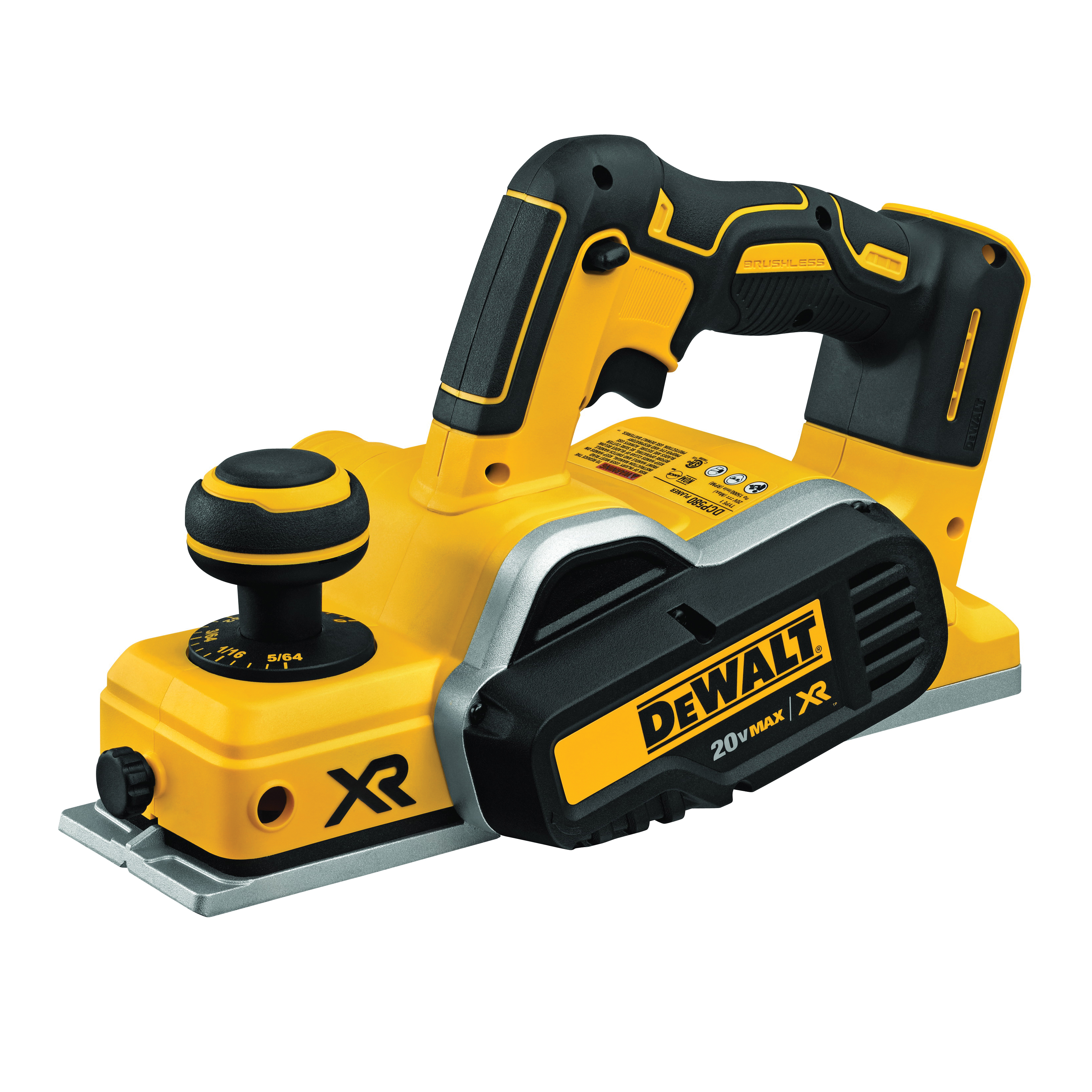 Picture of DeWALT DCP580B Brushless Planer, Bare Tool, 20 V Battery, 3-1/4 in W Planning, 15000 rpm No Load