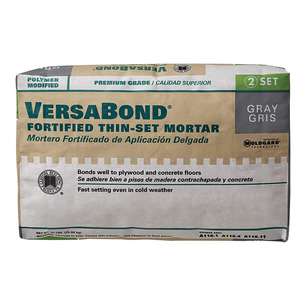 Picture of CUSTOM VersaBond Flex MTSG50 Thin-Set Mortar, Gray, Powder, 50 lb Package, Bag
