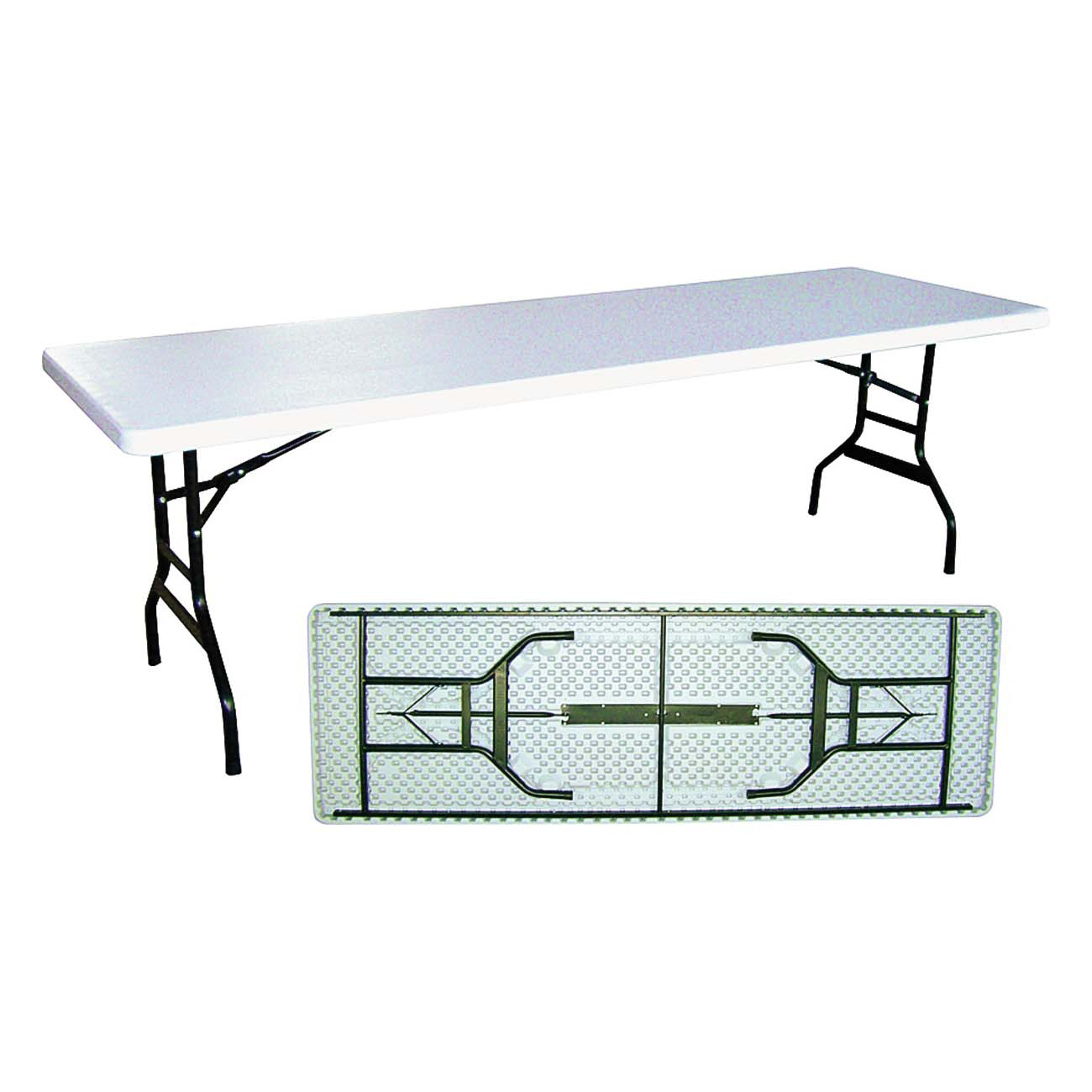 Picture of Simple Spaces DL-C2403L Banquet Table, 29-3/4 in OAW, 93-7/8 in OAD, 29-1/4 in OAH, Steel Frame, White