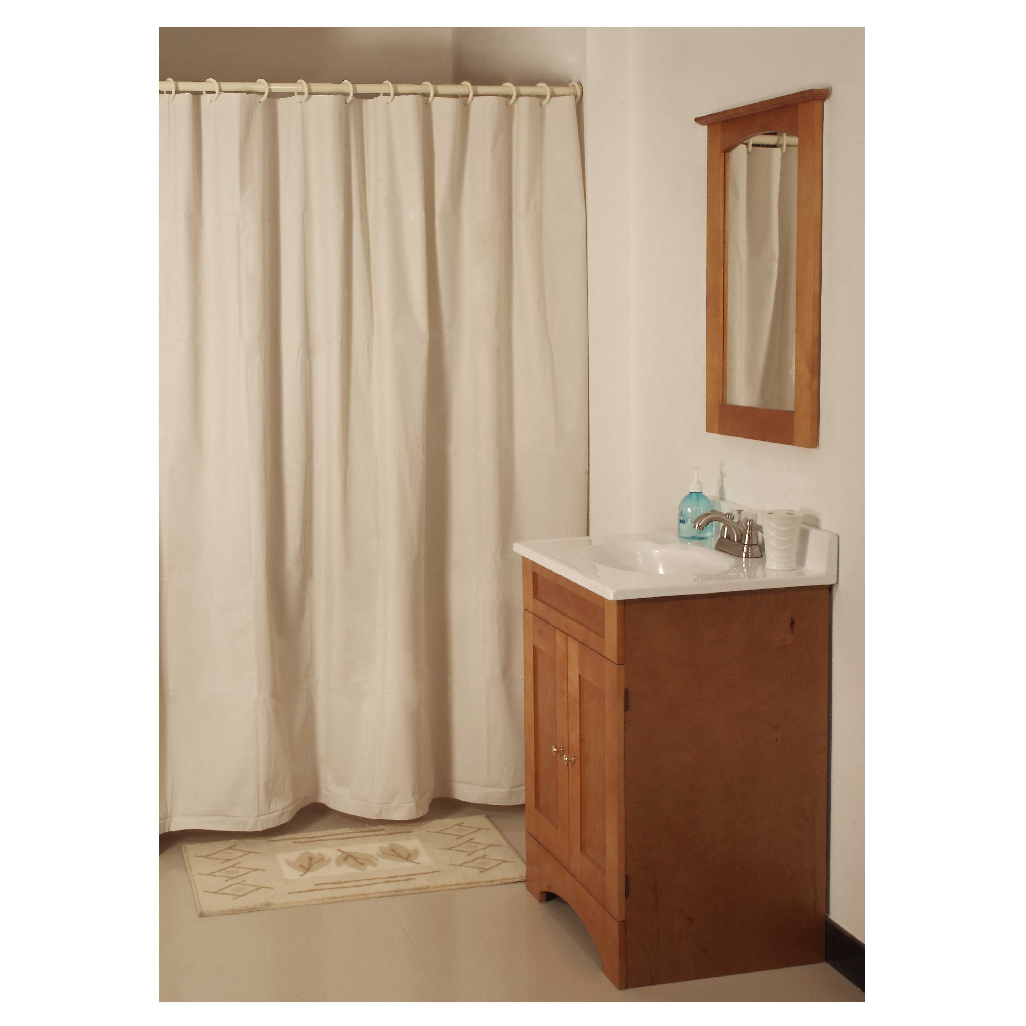 Picture of Simple Spaces SD-PCP01-B3L Shower Curtain, 72 in L, 70 in W, Vinyl, Beige