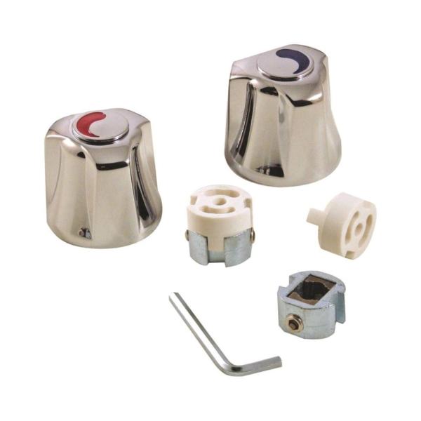 Picture of Danco 80016 Faucet Handle, Zinc, Chrome, For: Universal Two-Handle Kitchen, Lavatory Faucets