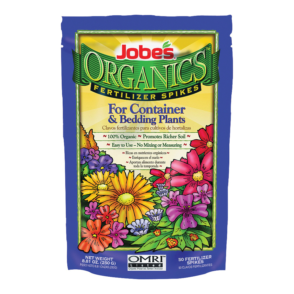 Picture of Jobes 6128 Fertilizer Spike Bag, Spike, Gray/Light Brown, Organic, Bag