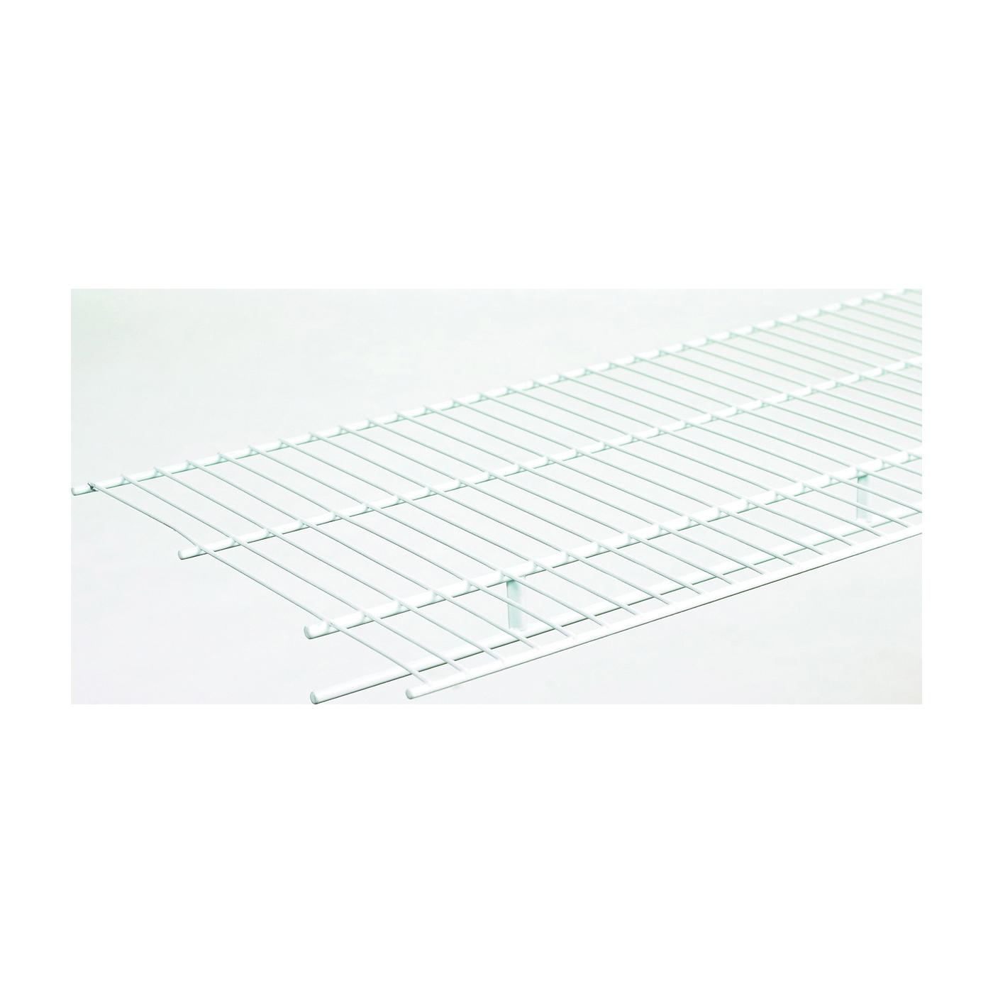 Picture of ClosetMaid 1078 Wire Shelf, 80 lb, 1-Level, 12 in L, 96 in W, Steel, White