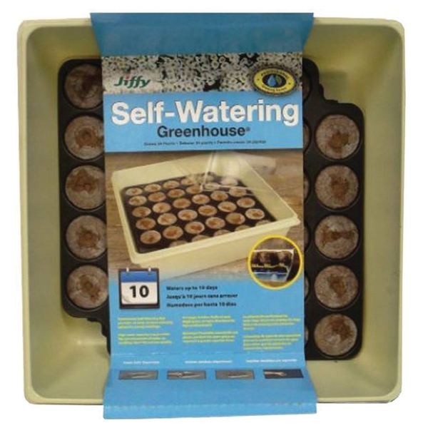 Picture of Jiffy T34H Greenhouse Seed Starter Kit, Self-Watering, 34 -Piece