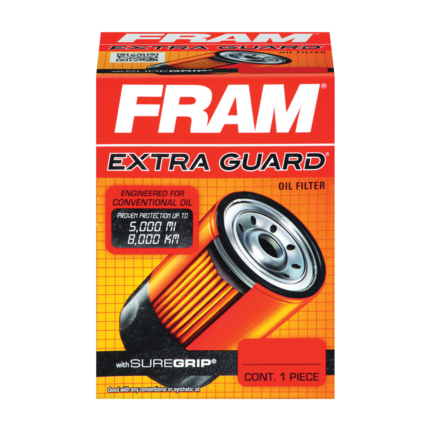 Picture of FRAM PH4967 Full-Flow Lube Oil Filter, 3/4- 16 Connection, Threaded, Cellulose, Synthetic Glass Filter Media