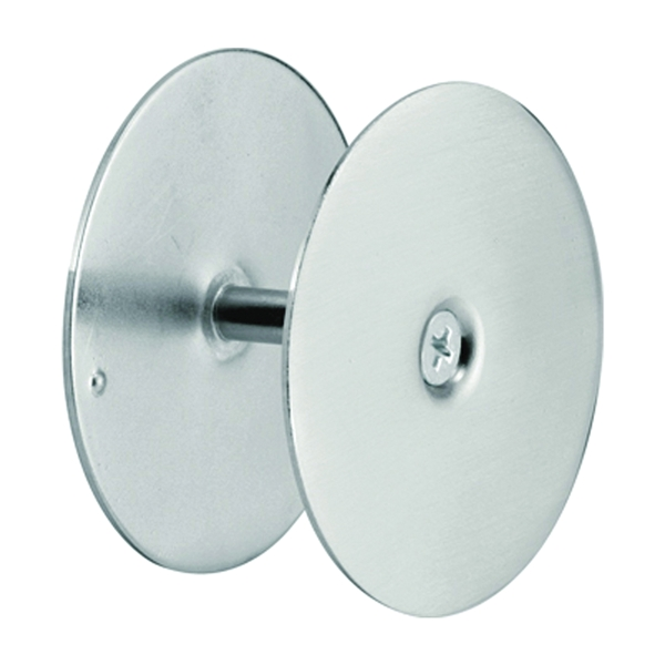 Picture of Defender Security U 10446 Hole Cover Plate, Steel, Satin Nickel, For: 1-3/4 in Thick Doors