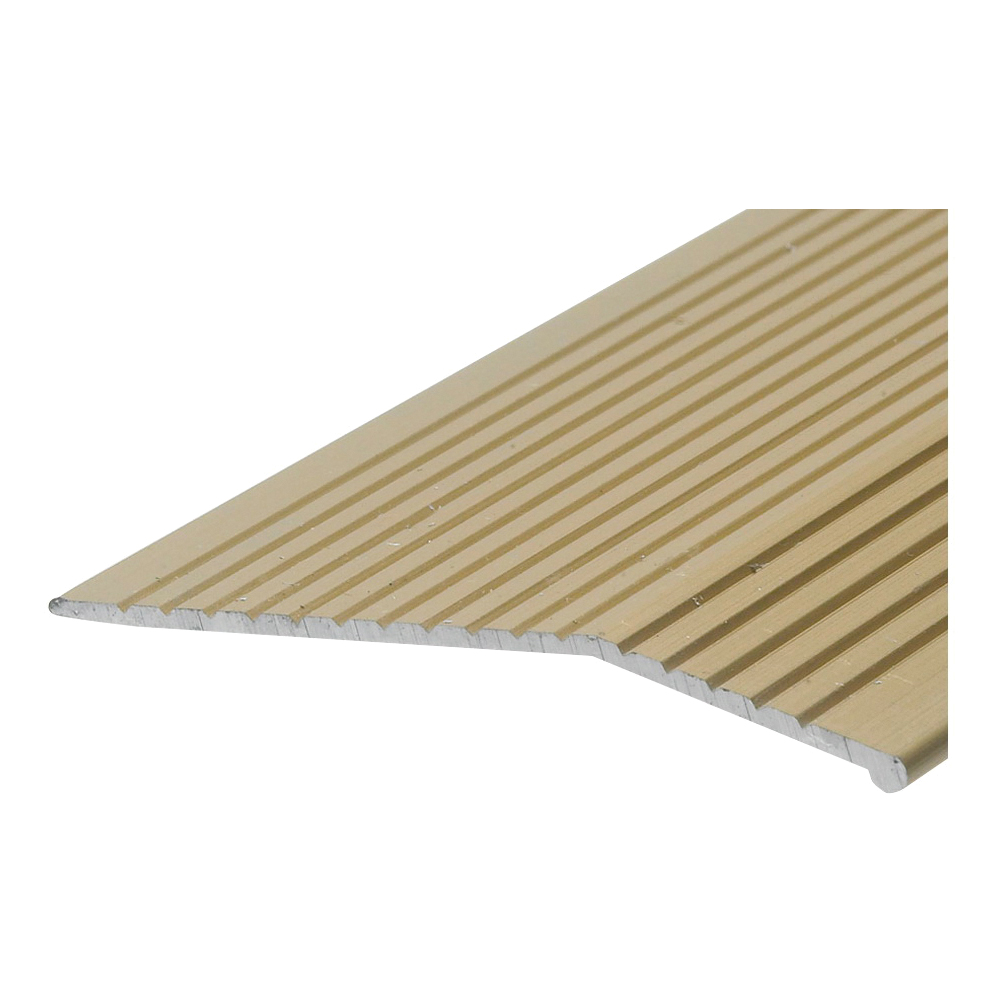 Picture of Frost King H1591FB6 Carpet Bar, 6 ft L, 2 in W, Fluted Surface, Aluminum, Gold, Satin