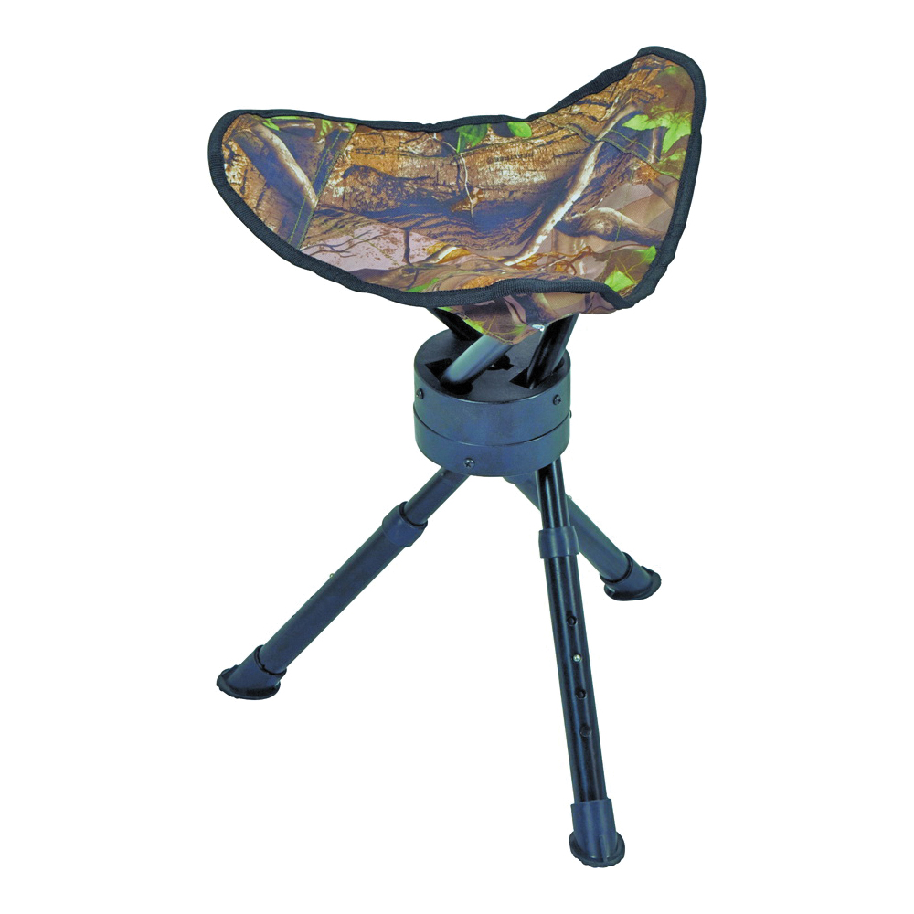 Picture of AMERISTEP 3RG1A015 Tripod Swivel Stool, Fabric, Camouflage/Green, Powder-Coated