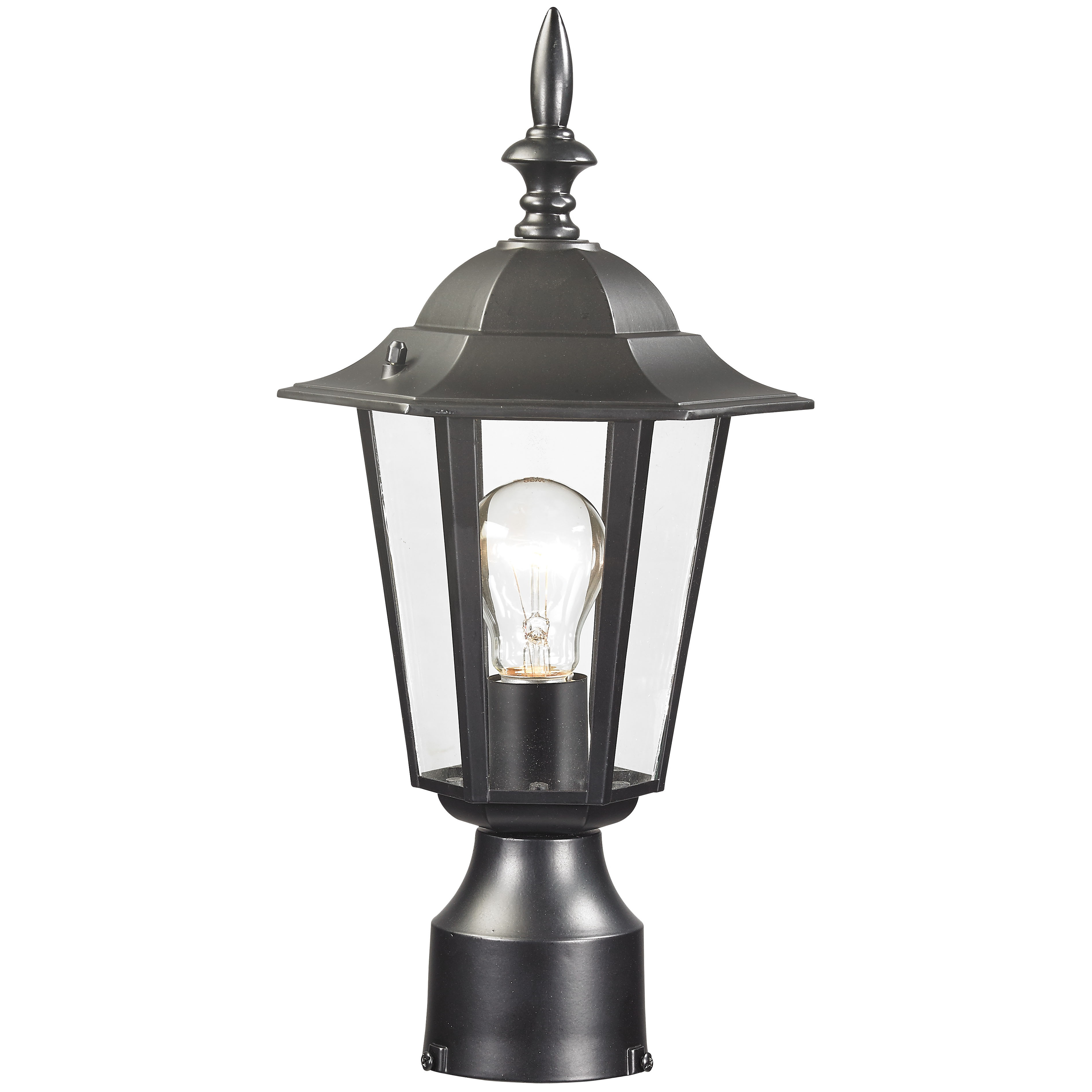 Picture of Boston Harbor AL8044-BK Post Lantern, Aluminum Fixture, Black