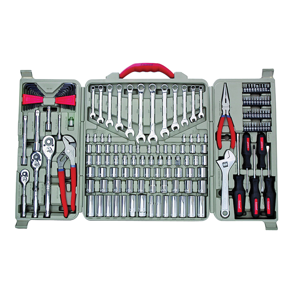 Picture of Crescent CTK170MPN Mechanic's Tool Set, 170 -Piece, Alloy Steel, Chrome, Silver