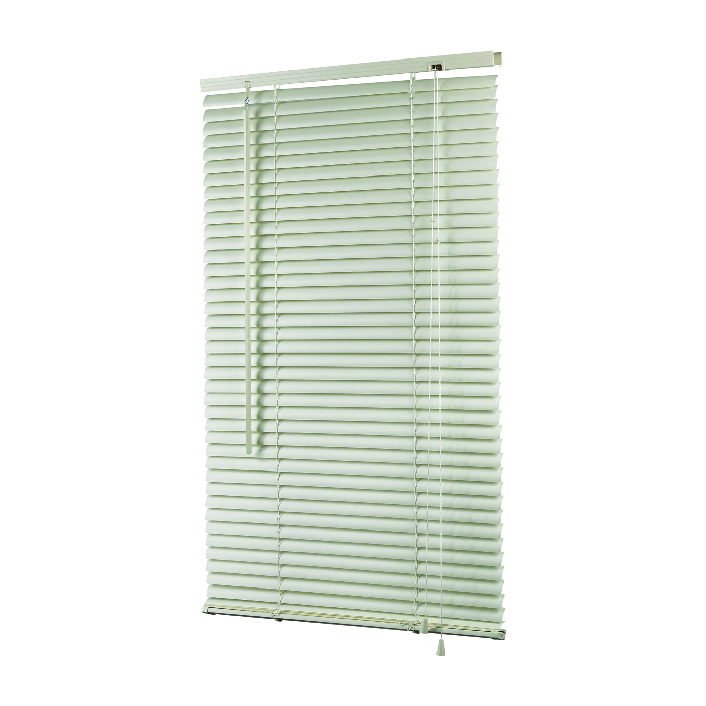 Picture of Simple Spaces MBV-35X64-A3L Mini-Blinds, 64 in L, 35 in W, Vinyl, Alabaster