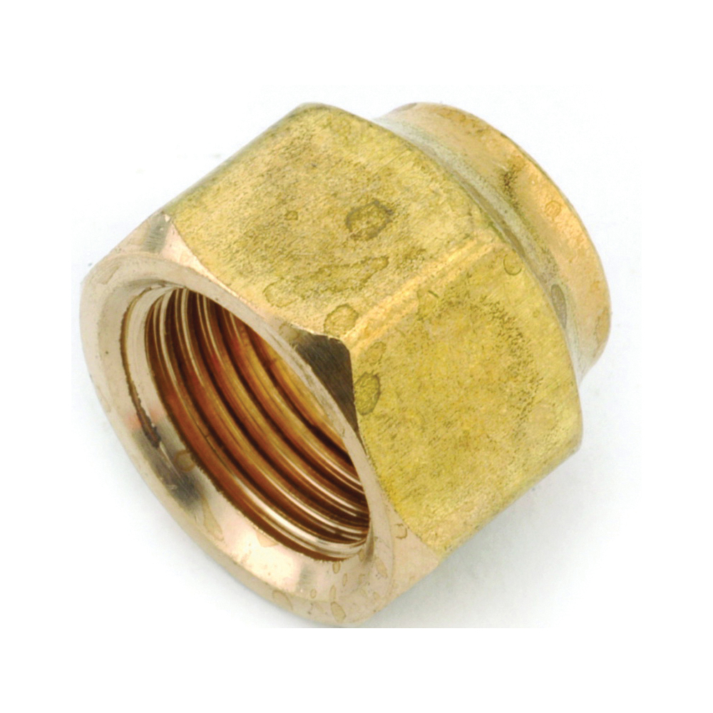 Picture of Anderson Metals 754018-04 Flare Nut, 1/4 in, Brass