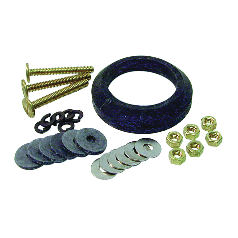 Picture of Danco 88913 Toilet Tank-to-Bowl Kit, Brass/Rubber/Steel, White