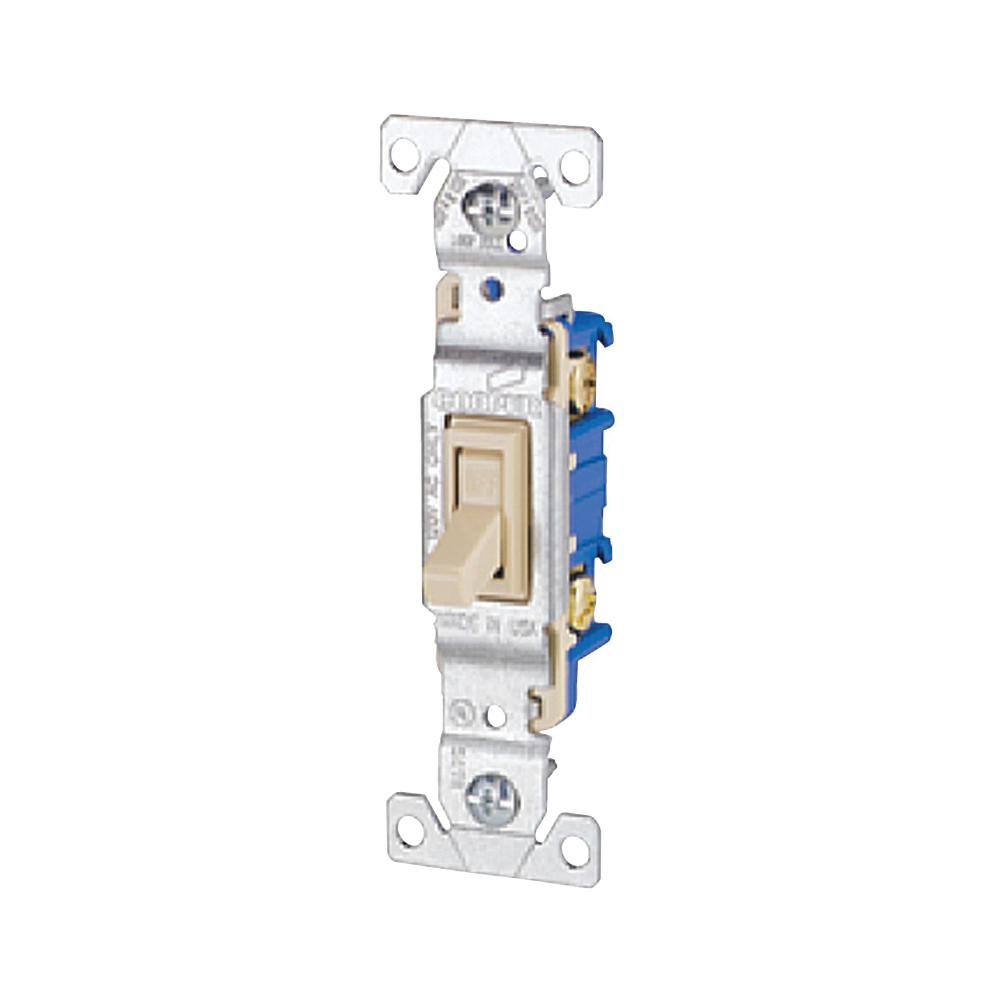 Picture of Eaton Wiring Devices 1301V Toggle Switch, 15 A, 120 V, Polycarbonate Housing Material, Ivory