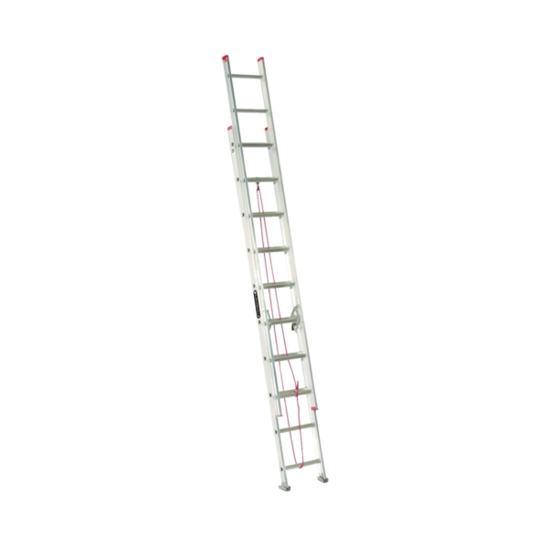 Picture of Louisville L-2324-20 Extension Ladder, 240 in H Reach, 200 lb, 1-1/2 in D Step, Aluminum
