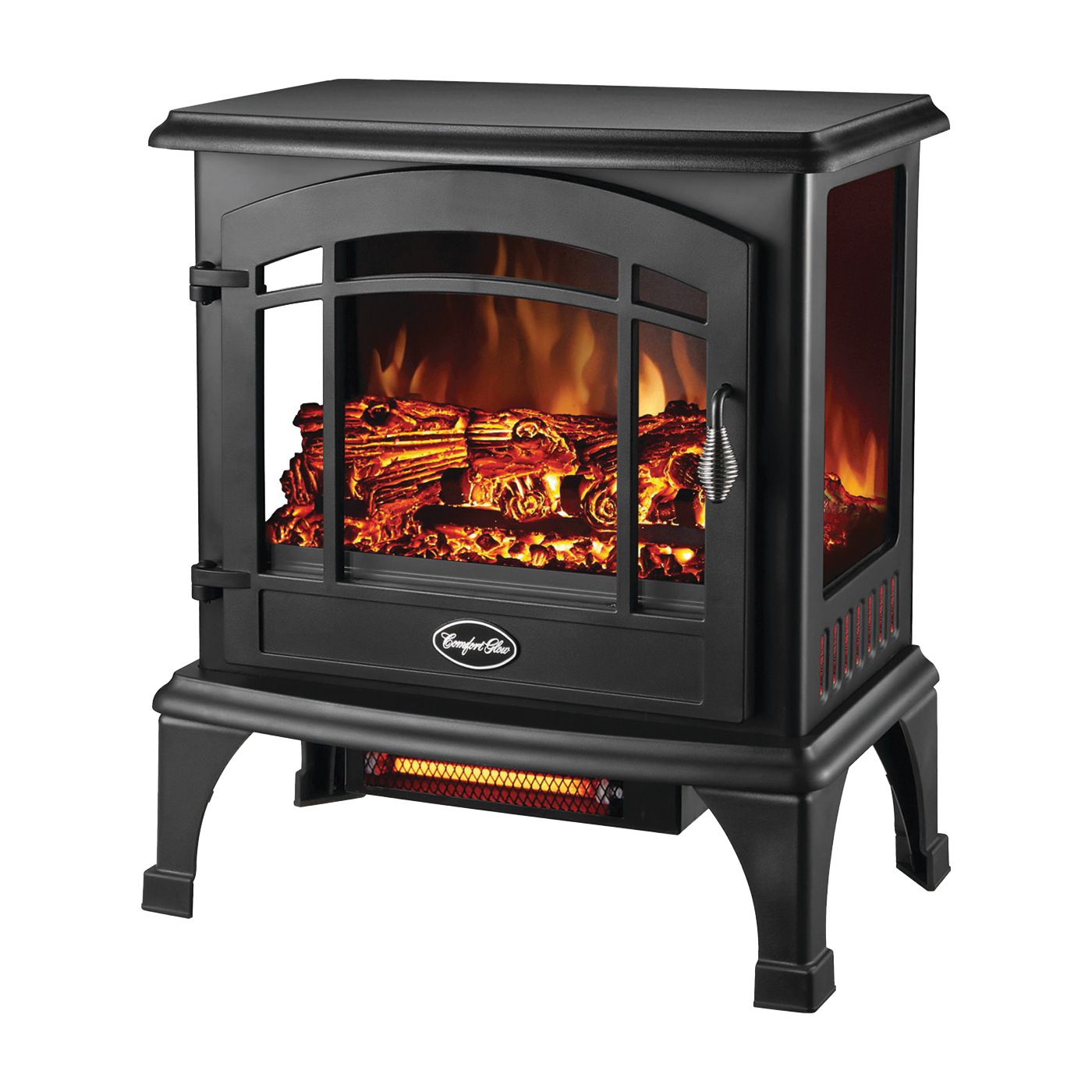 Picture of Comfort Glow EQS5140 Electric Stove, 120 V, Thermostat Control, Steel, Black
