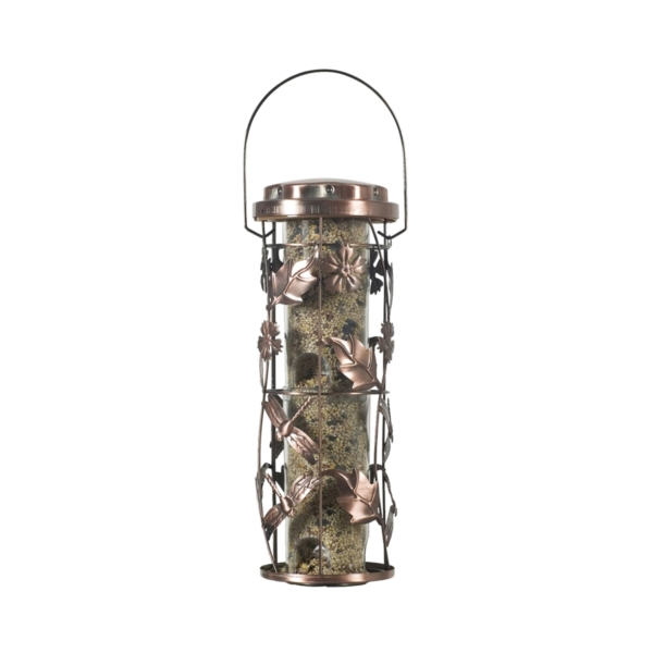 Picture of Perky-Pet 550 Wild Bird Feeder, Whimsical Garden, 1 lb, Plastic, Antique Copper, Hanging Mounting