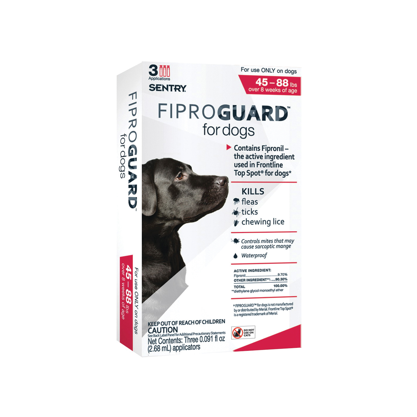 Picture of SENTRY Fiproguard 02952 Flea and Tick Squeeze-On, Liquid, 3 Count Package