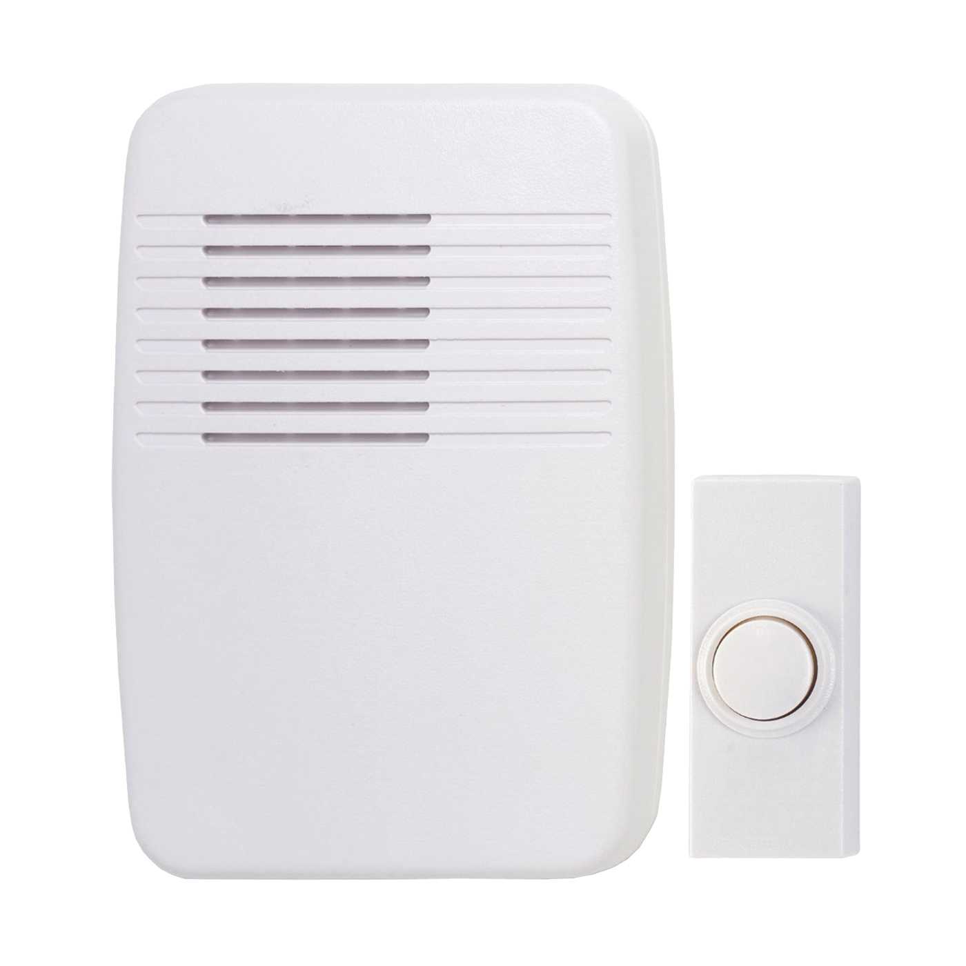 Picture of Heath Zenith SL-7366-02 Doorbell Kit, Ding, Ding-Dong, Westminster Tone, 75 dB, White