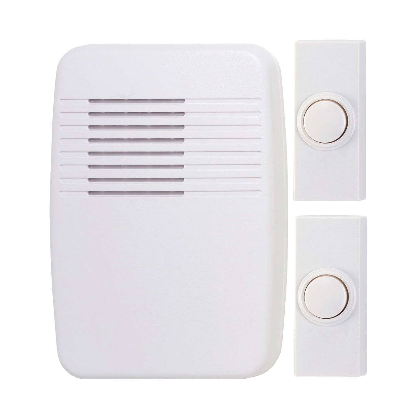 Picture of Heath Zenith SL-7367-02 Doorbell Kit, Ding, Ding-Dong, Westminster Tone, 75 dB, White