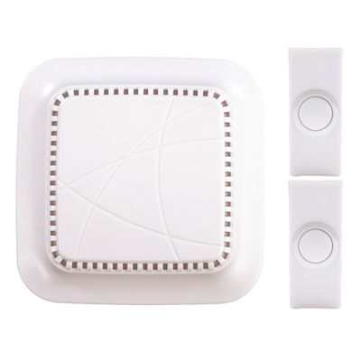 Picture of Heath Zenith SL-7762-02 Doorbell Kit, Ding, Ding-Dong, Westminster Tone, 75 dB, Off-White