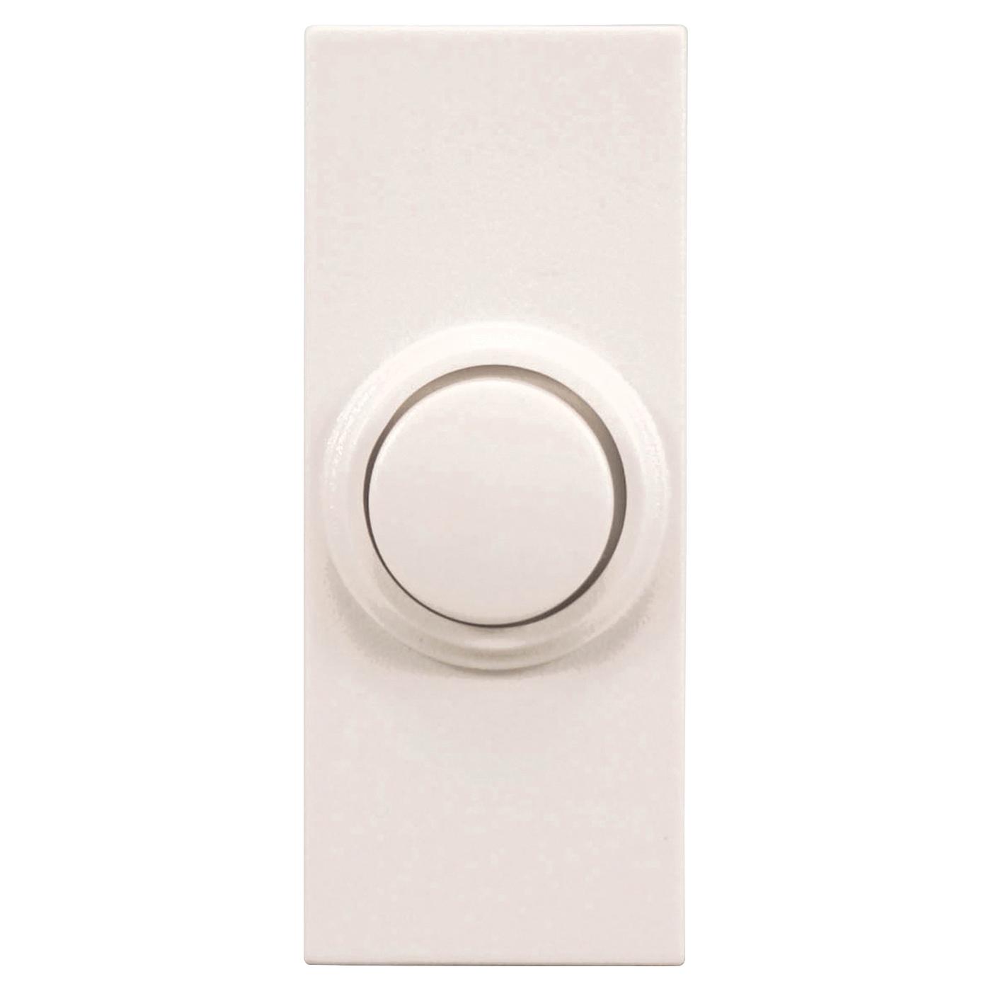Picture of Heath Zenith SL-7393-02 Pushbutton, Round, Wireless, Push Button, Plastic, White