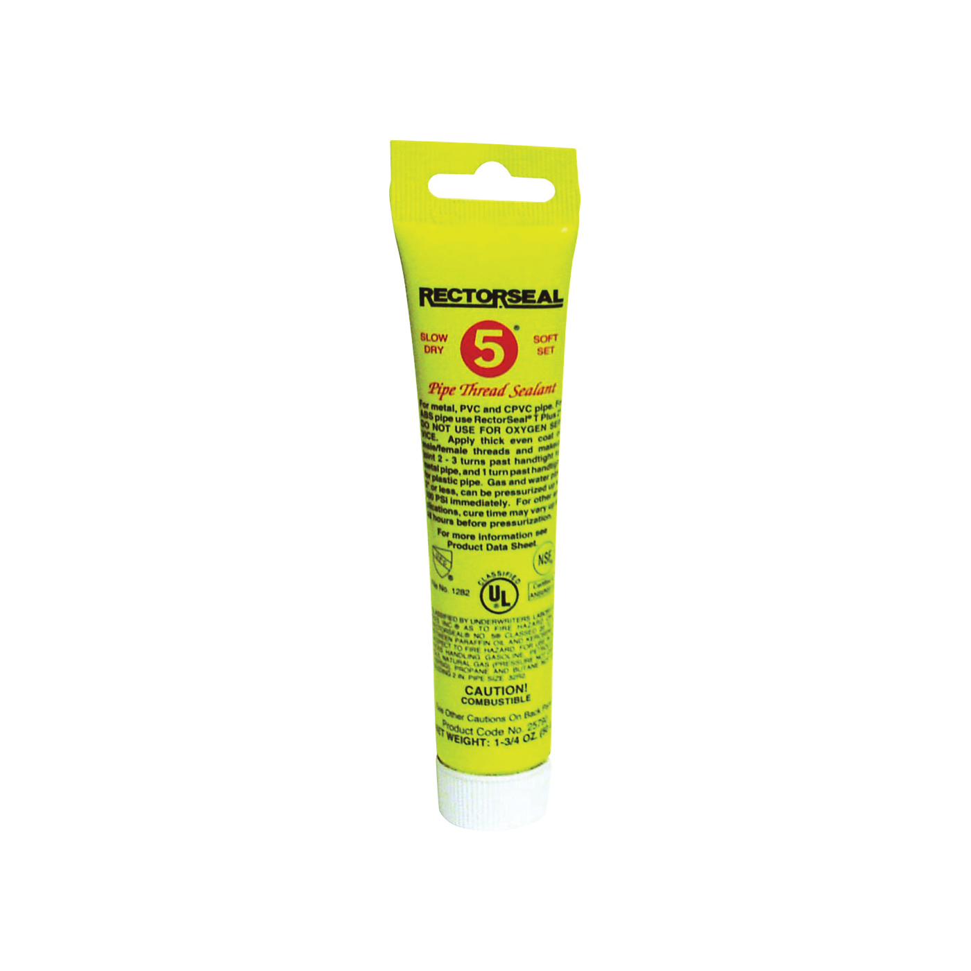 Picture of RECTORSEAL 25790 Thread Sealant, 1.75 oz, Tube, Paste, Yellow