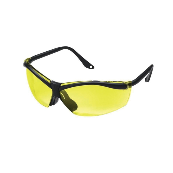 Picture of 3M 90966-WV12 Safety Eyewear, Anti-Scratch Lens, Semi-Rimless Frame, Black Frame