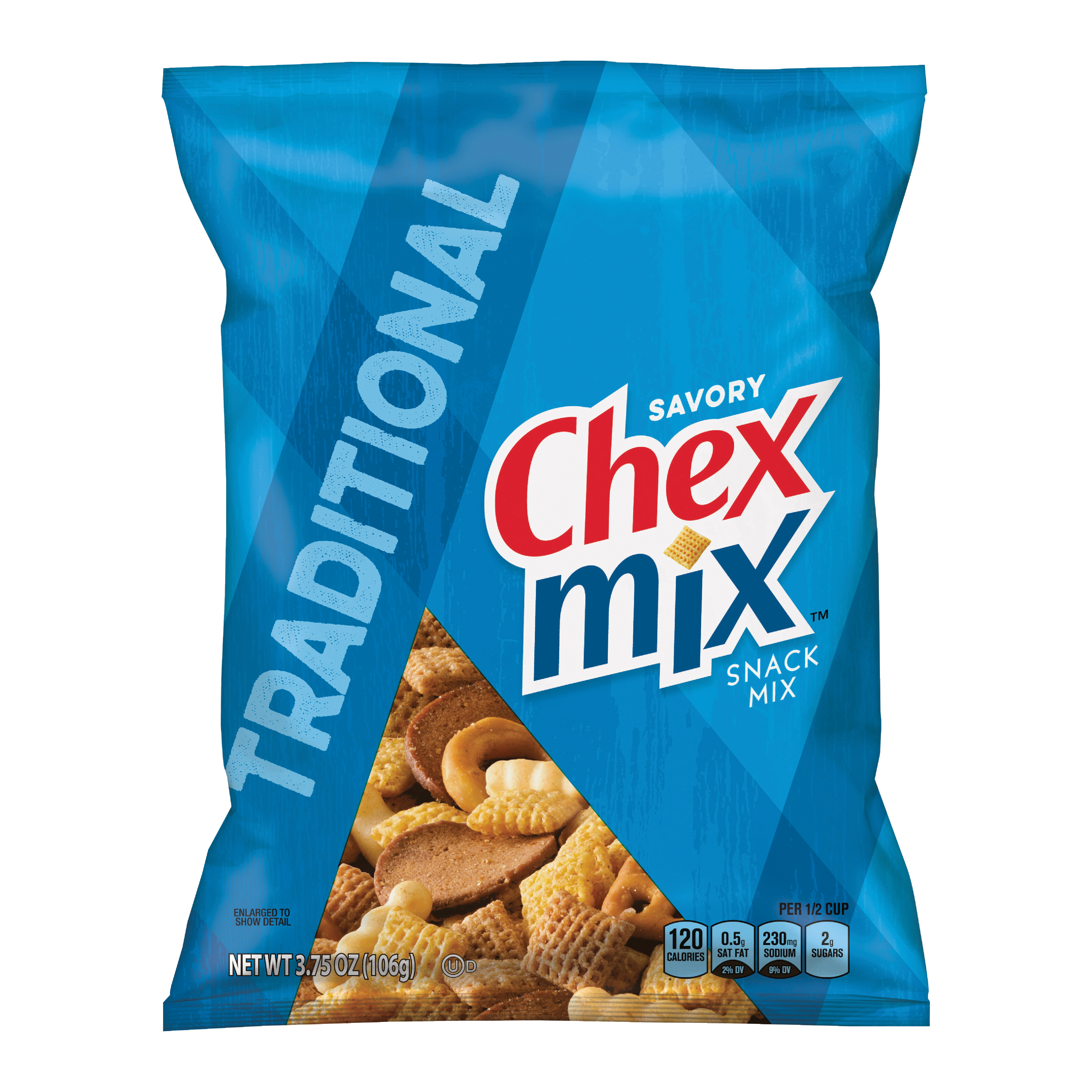 Picture of Chex Mix CMT8 Snack Food, Original Flavor, 3.6 oz Package, Bag