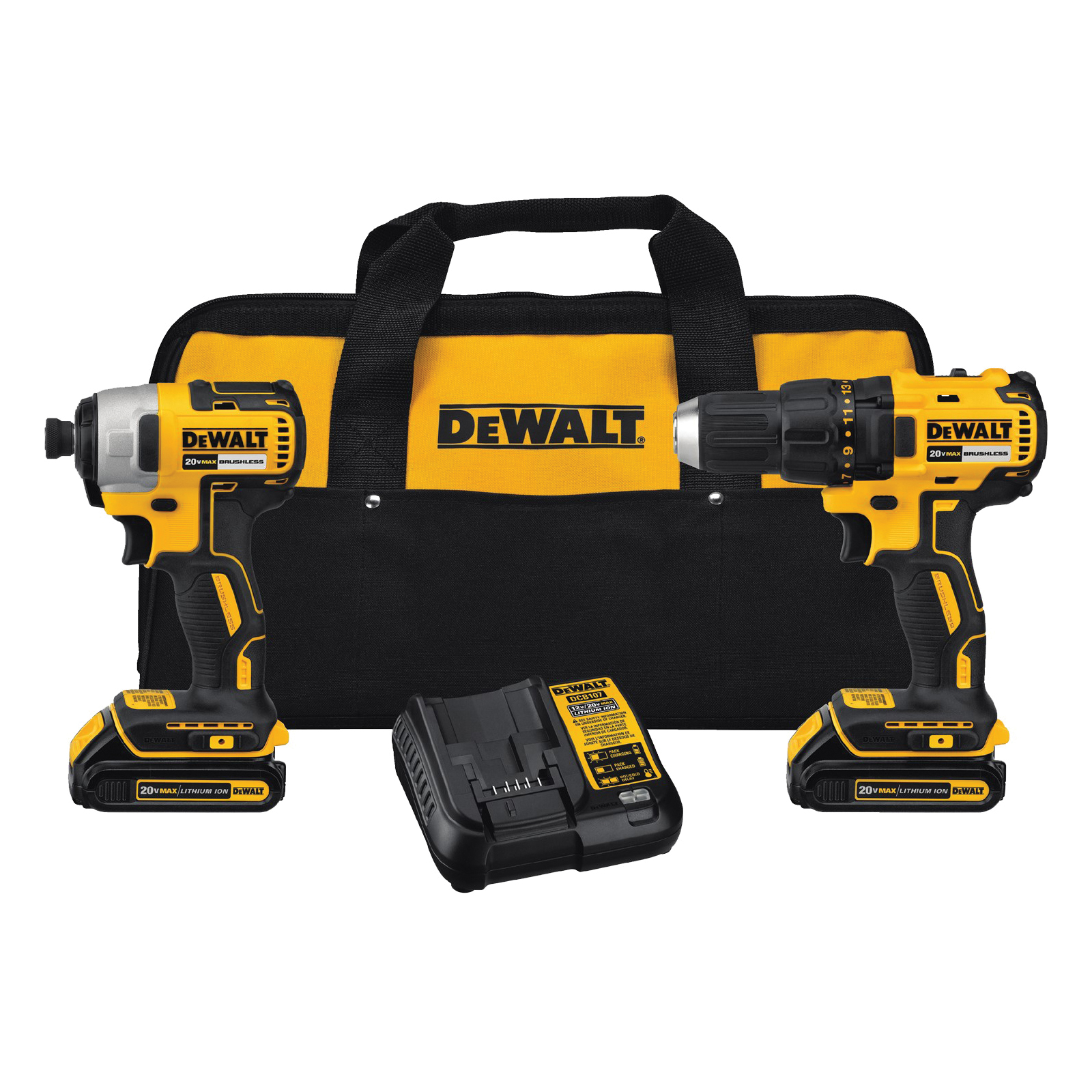 Picture of DeWALT DCK277C2 Combo Kit, Battery Included: Yes