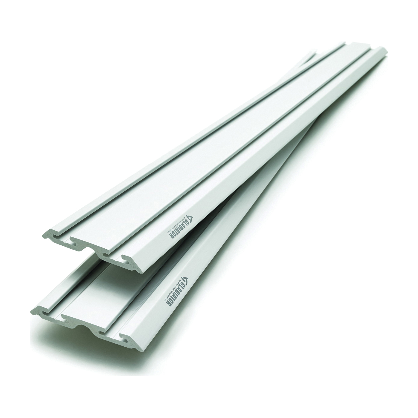 Picture of GLADIATOR GAWC042PZY Wall Channel, 75 lb Capacity, PVC, Gray, 48 in L, 6 in W